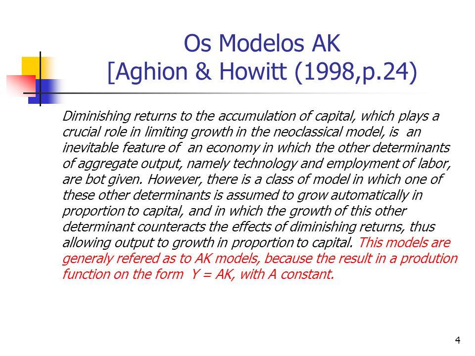 Os Modelos AK [Aghion & Howitt (1998,p.24)